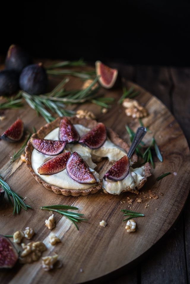 Fig tarts- use gluten free flour- from Taste of the Mediterranean - Gourmantine by Gintare Marcel