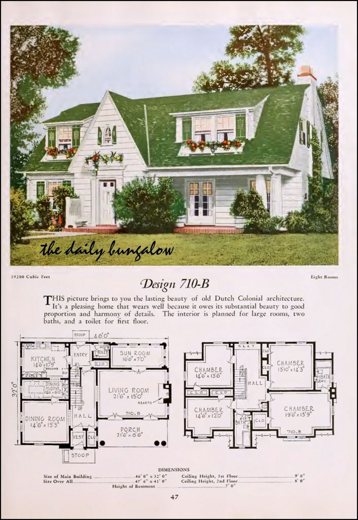 109 best kit homes images on pinterest vintage house plans floor plans and vintage homes - One and two story house plans inspiration through diversity ...
