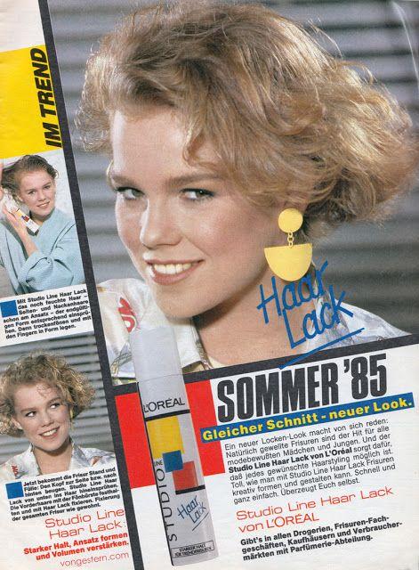 Studio Line Haarlack, Wax und Gel waren der Hit der 80er Jahre, wenn es um Haarpflege und Haarstyling ging. Besonders beliebt bei Poppern oder Punks wo man sich auf das Haarspray verlassen musste, damit die Haare immer in Form sind