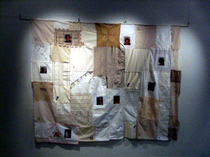 Siiri Niemelä, kollaasi, tekstiili, kierrätystaide