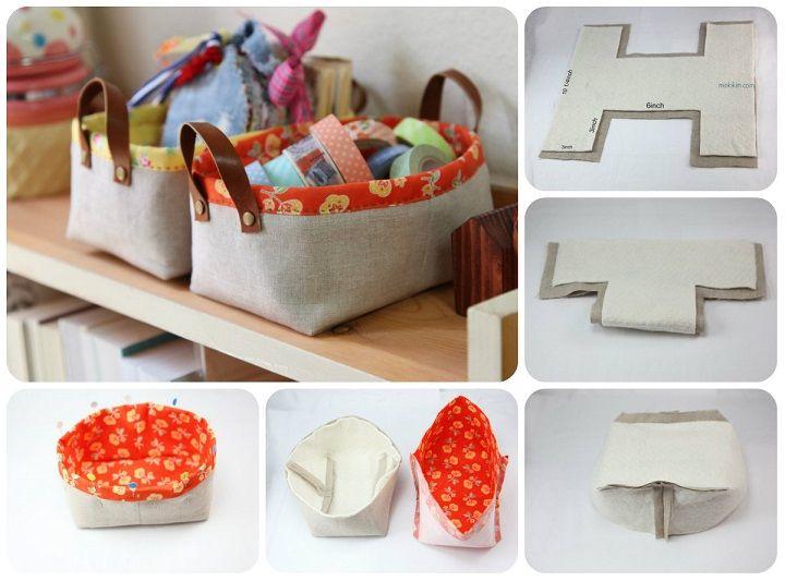 Ordine in casa � Tutorial box in stoffa