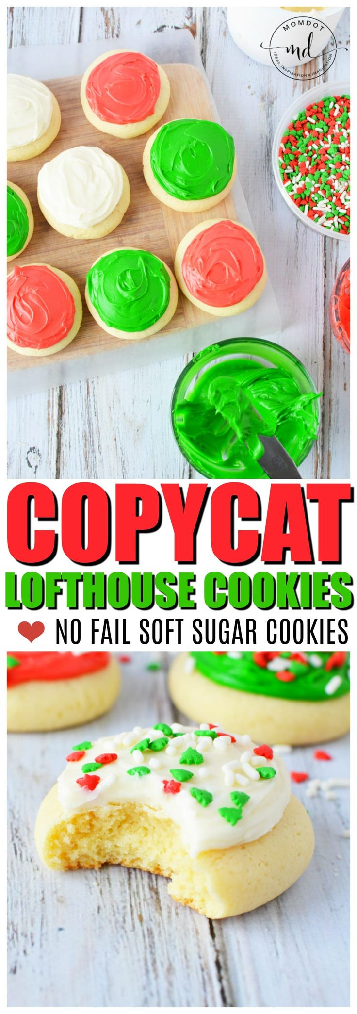 Lofthouse cookies copycat recipe, easy soft and delicious sugar cookie for the holiday season - BEST copycat out there