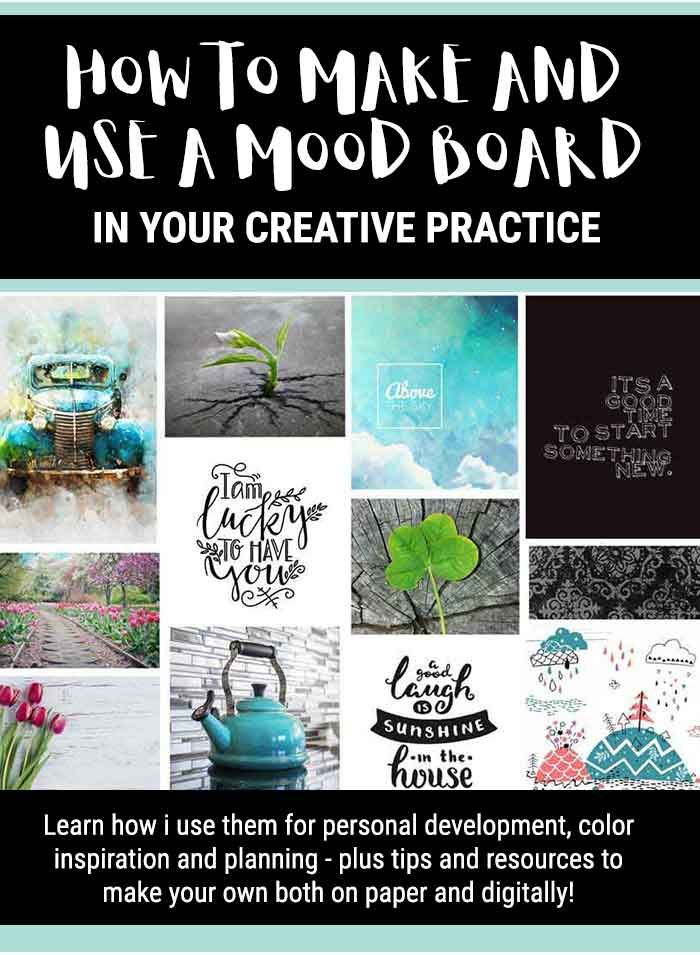 how to make and use a mood board in your creative practice rh pinterest com