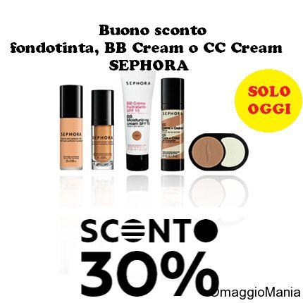 Buono sconto fondotinta, BB Cream e CC Cream Sephora (solo oggi) - http://www.omaggiomania.com/buoni-sconto/buono-sconto-sephora-fondotinta-bb-cream-cc-cream/