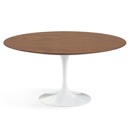 Saarinen 60-Inch Round Dining Table & Knoll Saarinen Table | YLiving