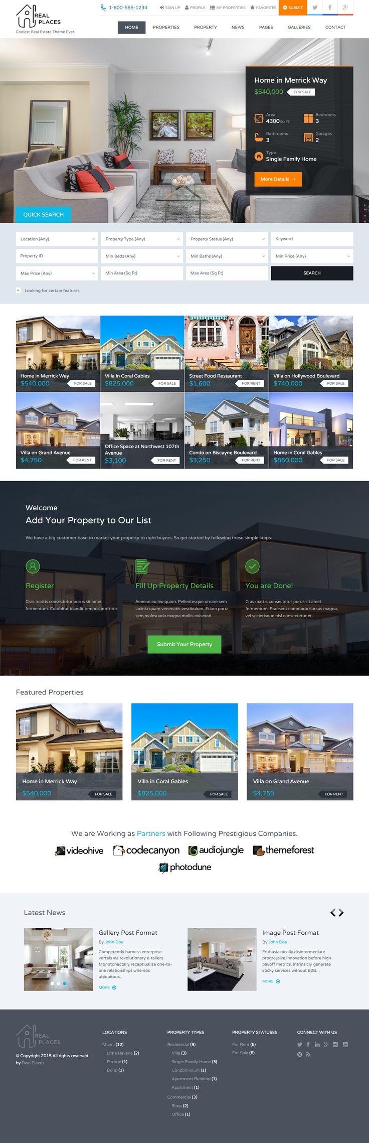 the 25 best real estate website templates ideas on pinterest