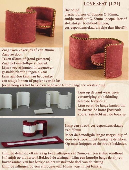 Mimin Dolls: armchair with cardboard tubes
