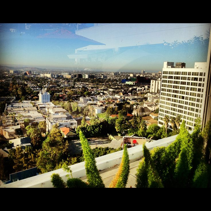 Los Angeles from The Andaz West Hollywood rooftop.