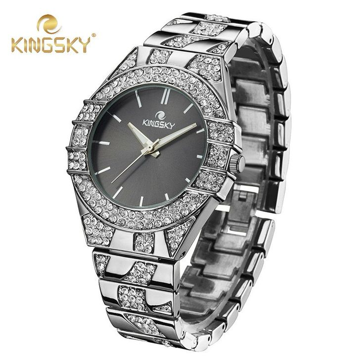 2016 Kingsky Ladies Stainless Steel Dress Watch With A Touch Of Bling