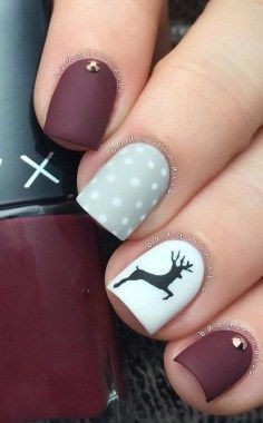 Easy but joyful christmas nails art ideas you will totally love 34