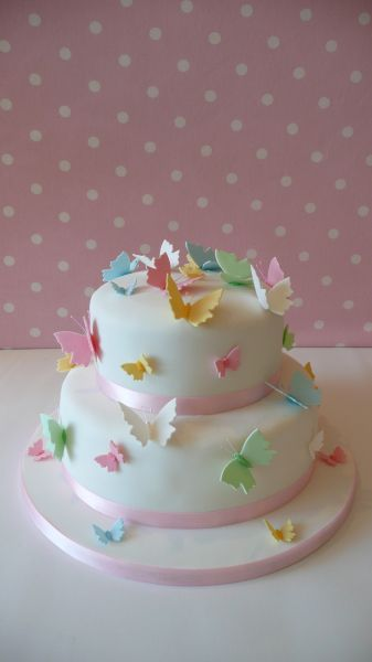 Pastel butterfly cake - so very pretty!