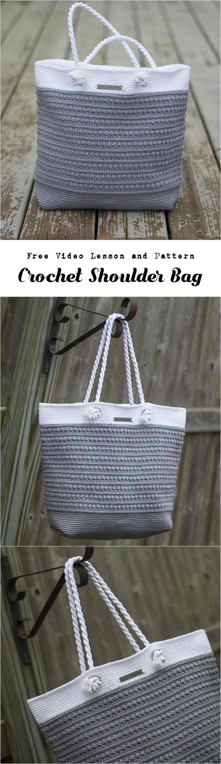 We have not often post and instructions for bags, but it's time to make one.Crochet shoulder bag with free video tutorial and free written pattern for all and also clearly explained. Look at the design and you will understand that the bag like this, Pretty, useful, comfortable and light for everyone is perfect. We love bags and it's one of the most important accessory for us. Make with your hands and ideas awesome bag. you can also remake design, crochet it in other colors add some appliques…