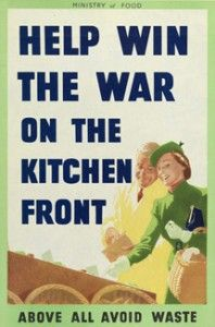 British poster, 1940 (Imperial War Museum). On 12 August 1940, Britain declared wasting food to be illegal.