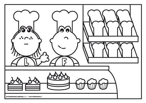 Welkom bij de bakker! Frokkie en Lola hebben heerlijk brood gebakken en super zoete taartjes gemaakt. Lola heeft ook nog roze cupcakes gemaakt. Smullen maar!