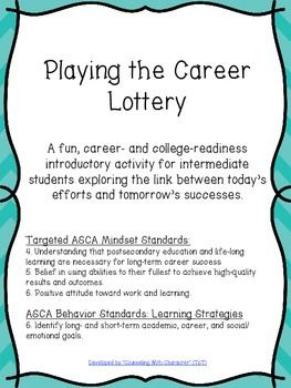 Fun activity for middle school students to see the link between skills, interests, and careers, plus what they can be doing now to ensure long-term success down the road!