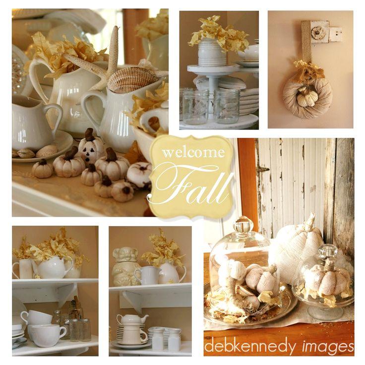 Fabulous, classy, and rustic fall decorating ideas.: Homewardfound Decor, Decorating Ideas, Autumn Decor, Welcome Fall, Fall Halloween Thanksgiving, White Pumpkin, White Dishes, Cabin Fall Decor Ideas, Rustic Fall