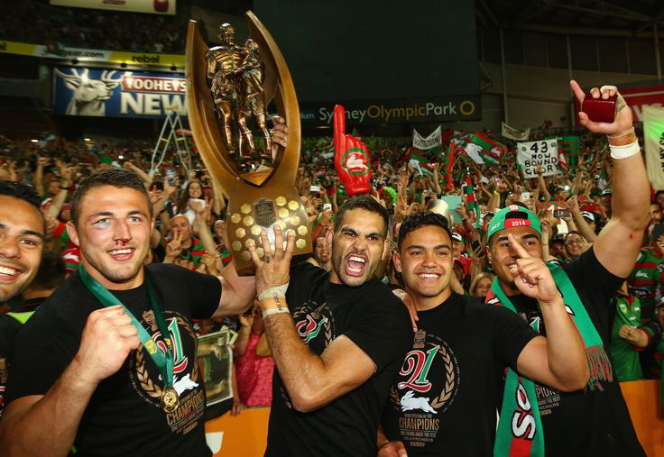 The South Sydney Rabbitohs celebrated their NRL grand final victory on Sunday at ANZ Stadium in Sydney.
