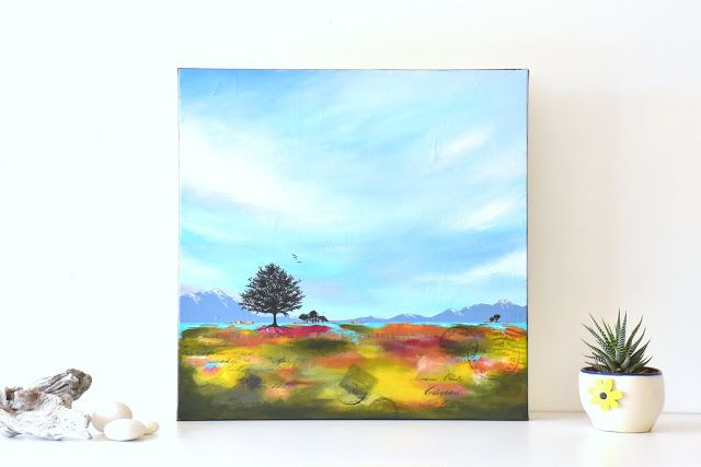 """""""Not so far away"""" - abstract landscape painting by Renee Walden"""