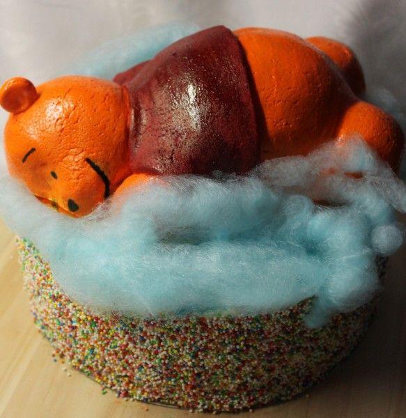 Micimackós torta a lányom 4. születésnapjára.