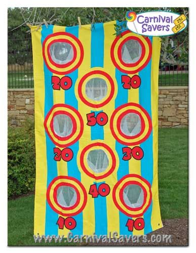 Fall Festival Booth Ideas | Carnival Game Idea - Bean Bag Toss