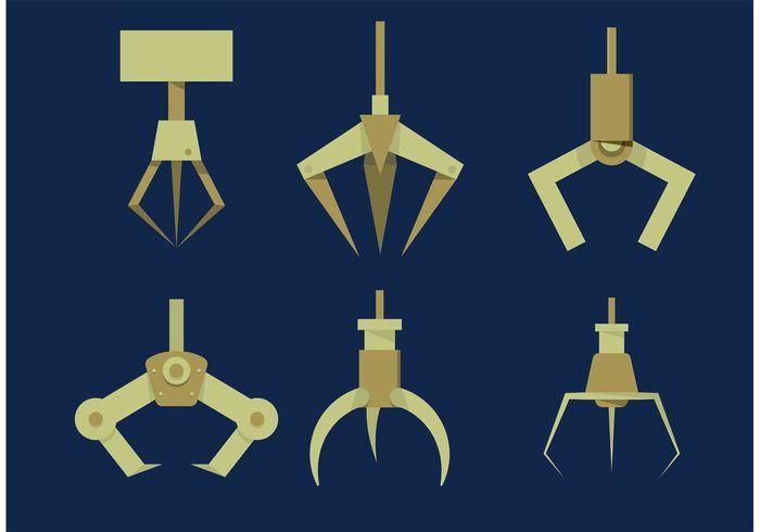 Highly Stylized Claw Machine Claw Set