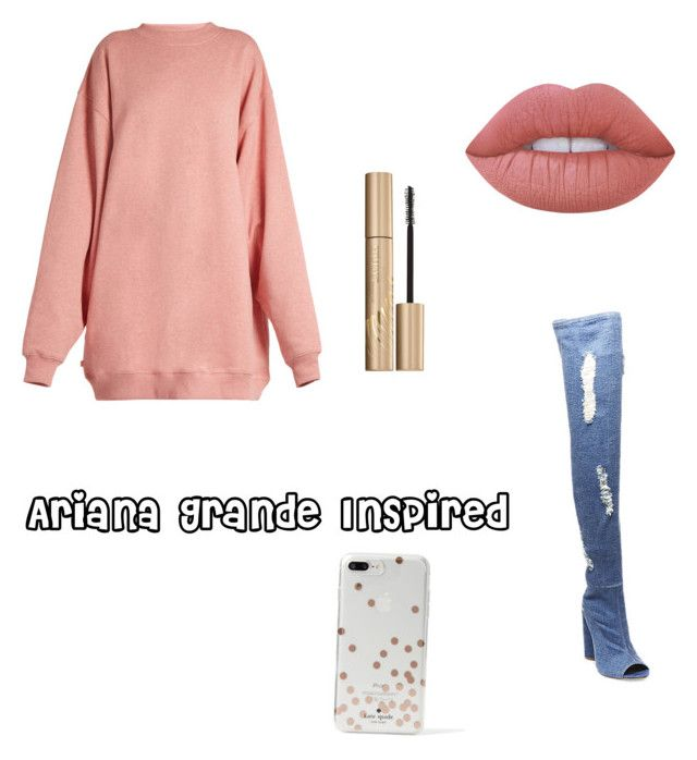 """Ariana .G Inspired"" by duhitzdeebruh on Polyvore featuring Steve Madden, Acne Studios, Stila, Lime Crime and Kate Spade"