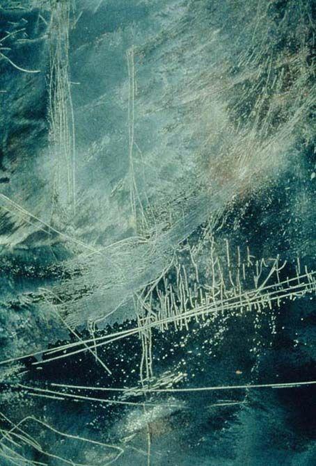 Accumulation, oxidized copper etching plate by yuko kimura, 1994