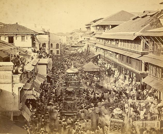 Muharram Festival Procession, Baroda (1880)