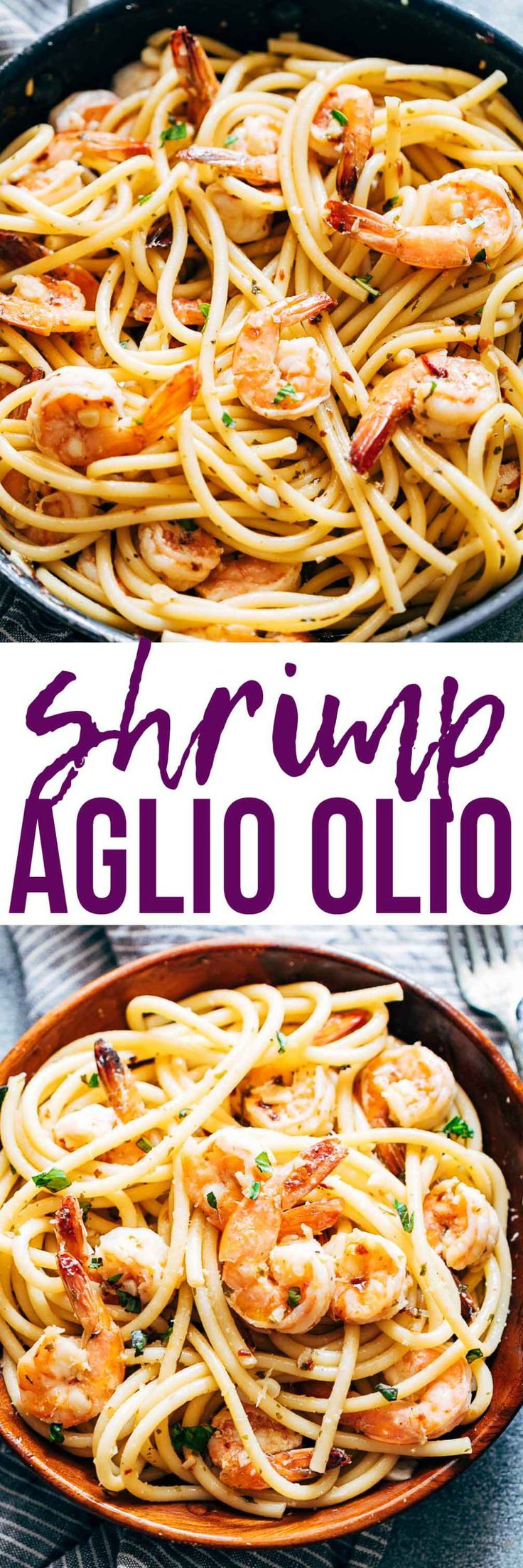 Shrimp Spaghetti Aglio Olio is a 5 ingredient pasta recipe (shrimp or prawns, olive oil, garlic, peperoncino or chilli flakes and parsley) thats ready in 20 minutes and has the easiest, most delicious pasta sauce you'll ever make! Great when you want fast