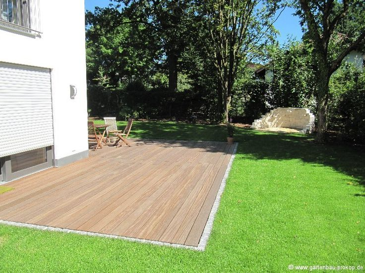 Holzterrasse Ebenerdig Garten Terrasse Garten