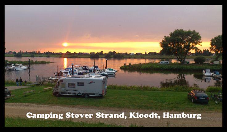 Camping Stover Strand, Kloodt, Hamburg, Germany