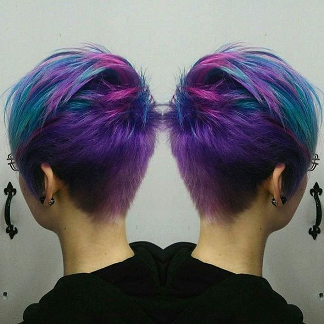 Really feeling this galaxy pixie by @diriagoly Use #modernsalon to show us your best work!                                                                                                                                                                                 More
