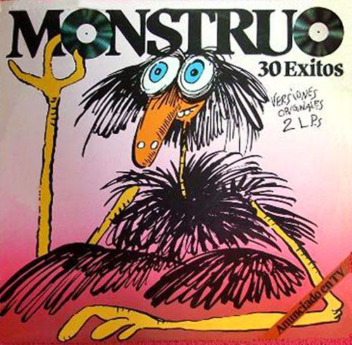 """Monstruo - Disco (1983). 30 éxitos y por supuesto, la etiqueta imprescindible de """"Anunciado en TV""""!"""