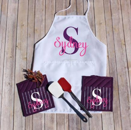 Personalized Apron Set Personalized Oven Mitts Custom Pot
