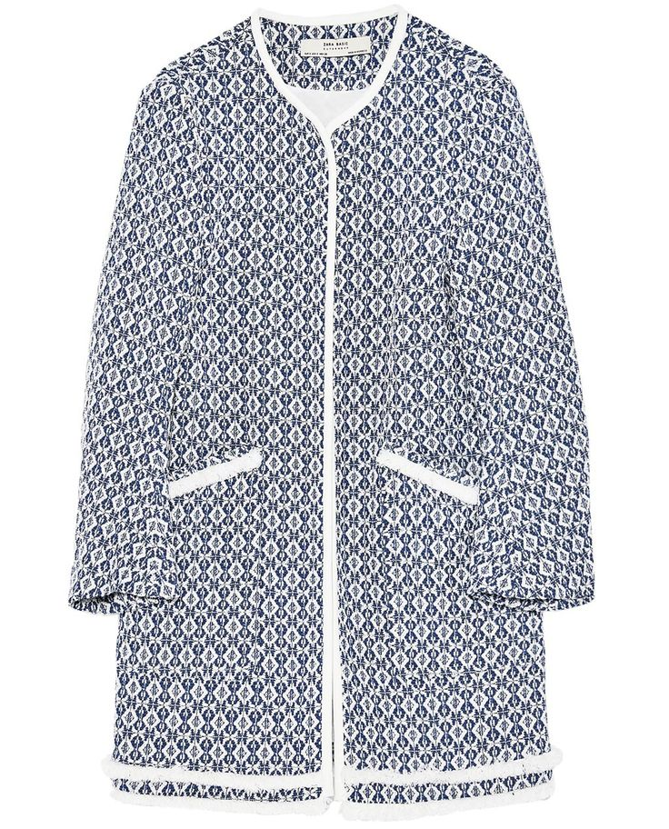 FRAYED PRINTED COAT-View All-OUTERWEAR-WOMAN | ZARA United States