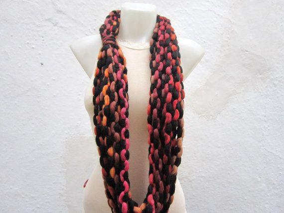 Scarf infinity  Necklace scarf  Colorful  Long  by scarfnurlu
