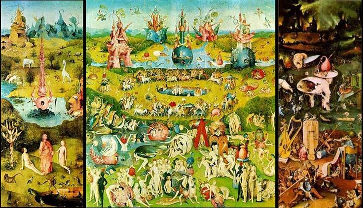 La canci n del trasero del infierno triptych prado and for El jardin de las delicias terrenales