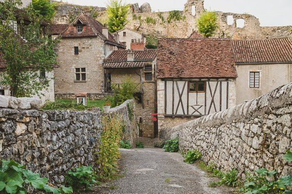 French Countryside Landscape Photography Print France Europe Village Architecture Travel W Countryside Landscape Landscape Photography Beautiful Places Nature