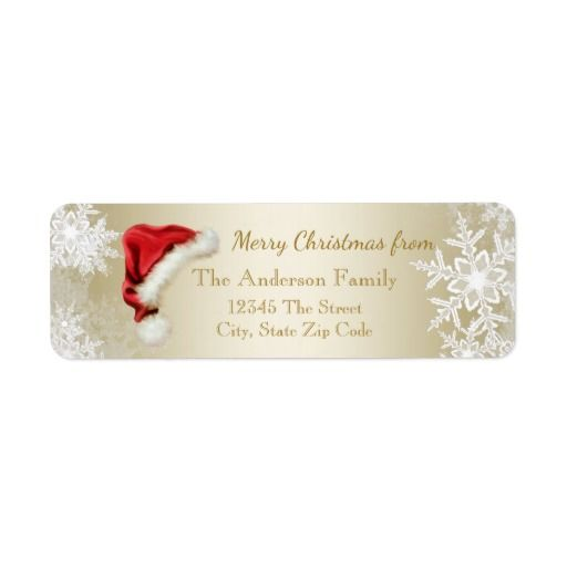 Best Christmas Labels Images On   Christmas Address