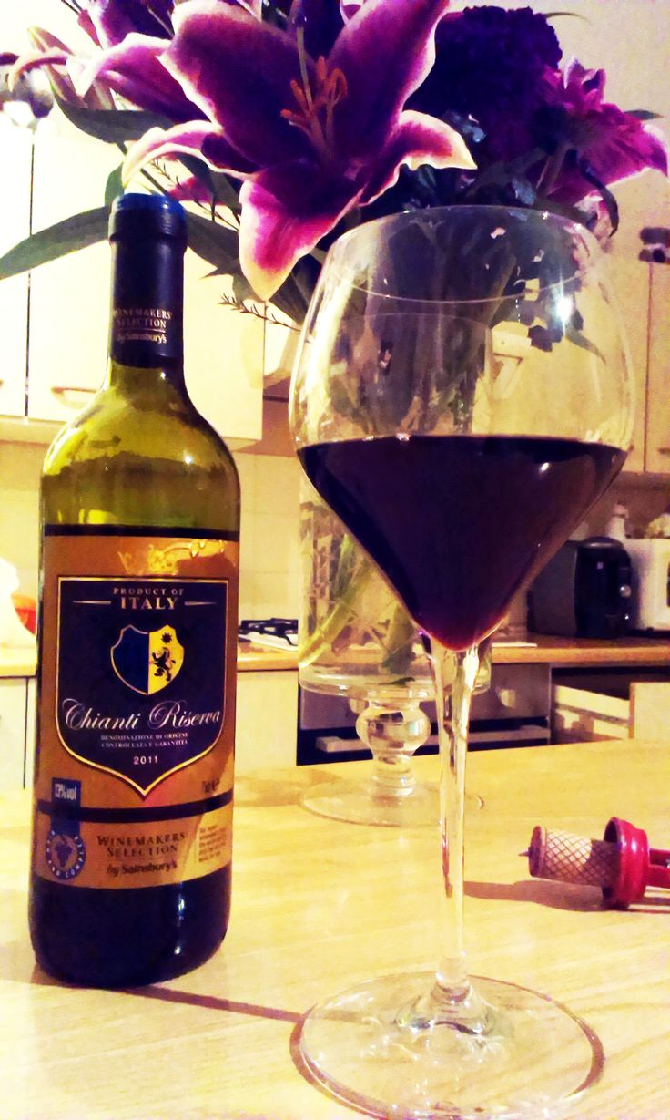 A delicious Chianti red wine with pizza makes a great Friday night treat!