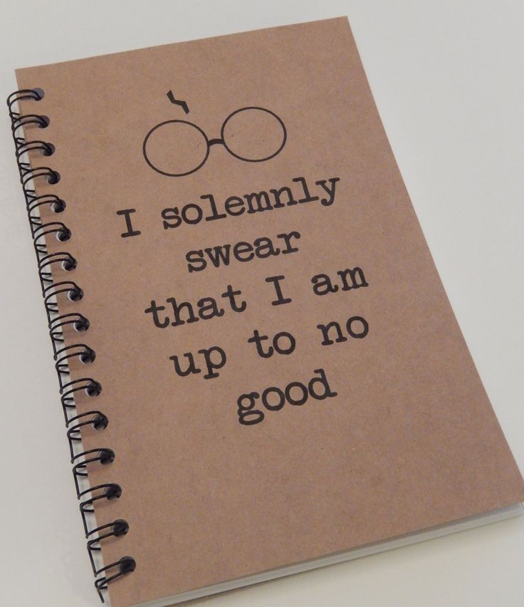Harry Potter Inspired Notebook, I Solemnly Swear that I am up to no Good, Journal, Notebook, gift, Harry Potter, Diary, Fandom, Sketchbook by MisterScribbles on Etsy https://www.etsy.com/listing/212481583/harry-potter-inspired-notebook-i