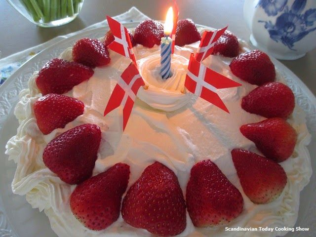 Scandinavian Today Cooking Show: How to Make A Danish Birthday Cake - Dansk Fødselsdagskage - Karen Grete Sings Danish Birthday Song