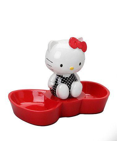 Look at this #zulilyfind! Red Bow Hello Kitty Jewelry Tray #zulilyfinds
