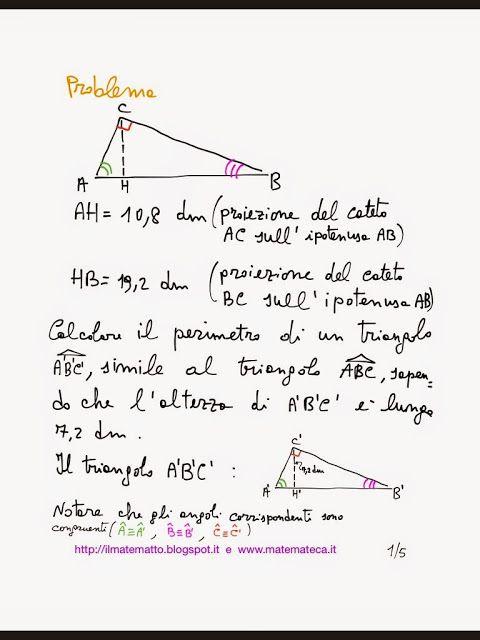 Problema svolto di geometria(teoremi di Euclide)
