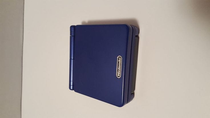 Nintendo Game Boy Advance SP Launch Edition Cobalt Blue Handheld System #Nintendo