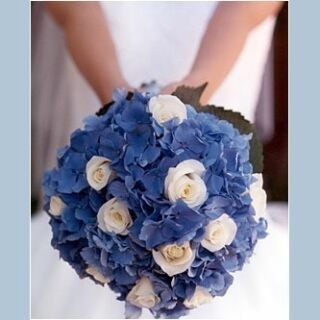 Hortensien - geht auch in Rosa - als Brautstrauß?