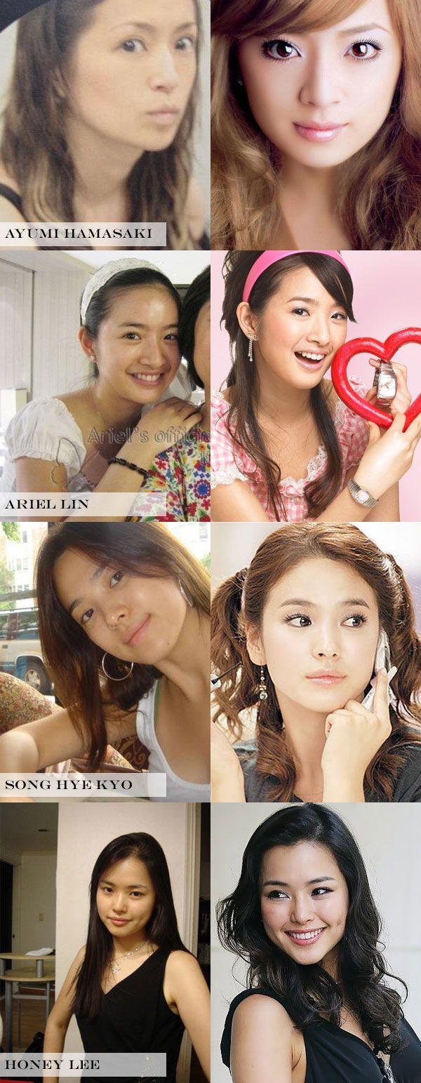 korean celebrities before and after makeup | makeupview.co