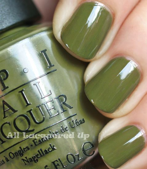 In love with this retro green shade by OPI.