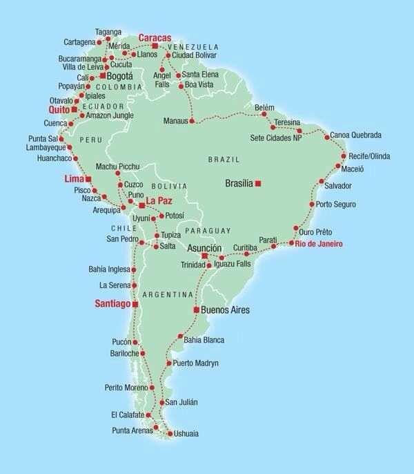 The road around South America