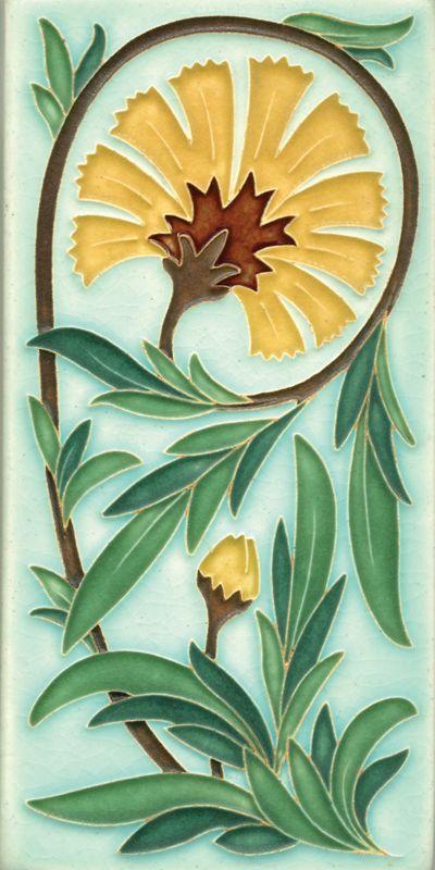 Carnation Motawi Tile